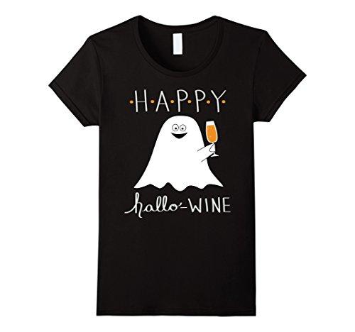 Womens Wine Halloween T Shirt XL Black