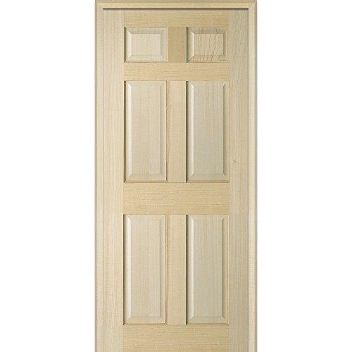 National Door Company Z023697R 6-Panel Right Hand Pre-hung Interior Door, 80