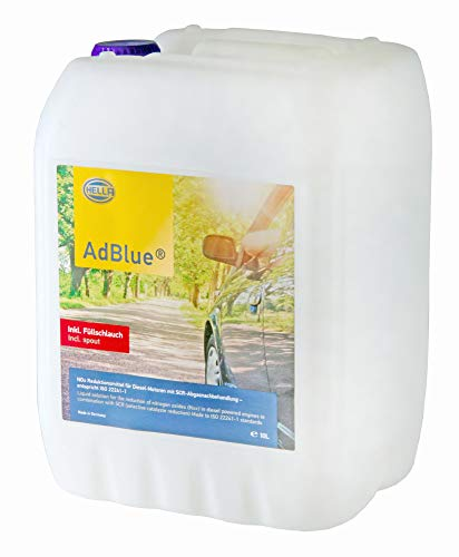 Price comparison product image HELLA 9CO 358 133-911 AdBlue High-Purity urea Solution for SCR Exhaust aftertreatment According to ISO 22241,  10 litres,  Including Filling Hose