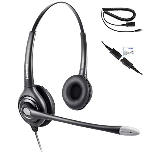 (Binaural Headset with Microphone and Quick Disconnect Cable, RJ9 Plug ONLY for Cisco IP Phones 794X 796X 797X 69XX Series and 8811,8841,8845,8861,8941,8945,8961,9951,9971 etc)