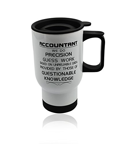 Accountant Car Coffee Travel Mug - White Coffee and Tea Mug gift for Hot Drinks. Cup 14 (Accountant Coffee Mug)