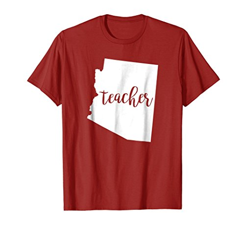 Arizona Teacher AZ RED home state school education tshirt