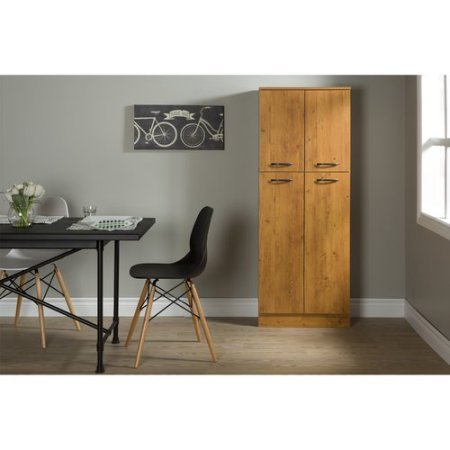 Smart Four Door Storage Pantry, Elegant and Practical Food Storage Pantry, Perfect Fit for Your Needs, Ideal for Putting Away Food as Well as Kitchen Accessories, Country Pine + Expert Guide by eCom Rocket (Image #3)