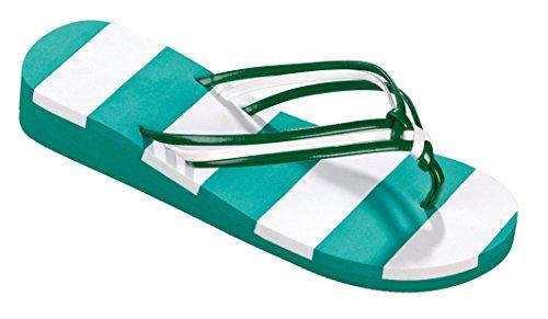 Beco Unisex V de Strap Slipper verde/blanco