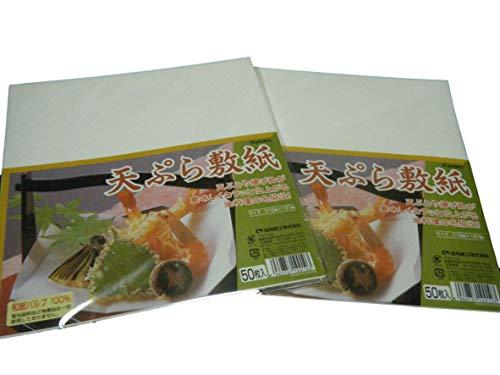 Japanese tempura sheets oil sheets.Convenient jumbo size.Cardboard type.50sheets×2sets for Pork cutlet fried food,Tenpura tempura Fried Shrimp.Japanese paper pulp100%.Made in Japan