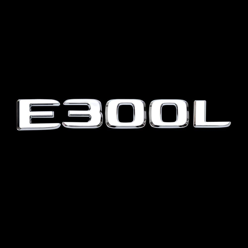 E 300 3D tailstock Sticker silvery Letters Trunk Emblem Sticker for Mercedes S Class AMG E350 E350L E300 e300L Emblem