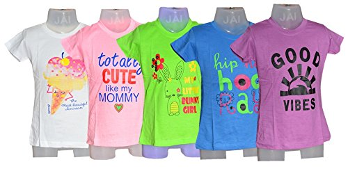 BRATS N BEAUTY- Kids Girls Tees/T Shirt Combo (5 Pc Set) 34 Size Assorted  Color & Print Fit for 3-4 Year Kids: Amazon.in: Clothing & Accessories