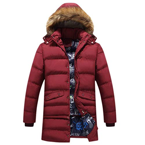 Apparel Sleeve Coat Hooded Detachable Cotton Coat Men's Down Rot Thick Windproof with Zipper Long Jacket Winter Jacket qtw4xvz