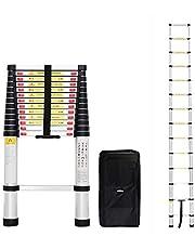 Todeco Telescoopladder, vouwladder - maximale belastbaarheid: 150 kg - standaard/certificering: EN131-4,1 meter, gratis draagtas, EN 131