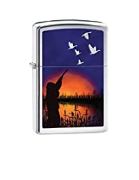 Duck Hunting Zippo Outdoor Indoor Windproof Lighter Free Custom Personalized Engraved Message Permanent Lifetime Engraving on Backside