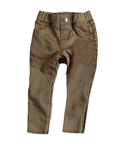 Largos Café Flaco Niñas Pantalones Legging Pantalón Deportivos Elásticos De Para UYHazqwP