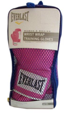 Pink Everlast Women's Boxing Wrist Wrap Training Gloves 12 Oz. Level