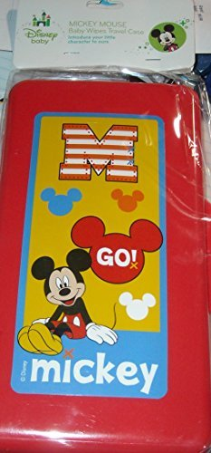 Disney Baby - Mickey Mouse Baby Wipes Travel Case - Go Mickey - Red