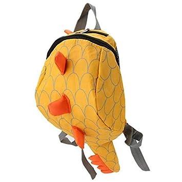 Whyyudan - Mochilas de seguridad para niños, diseño de dinosaurio, color amarillo: Amazon.es: Oficina y papelería