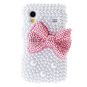 Bkjhkjy Red Bowknot Painting Pattern Rhinestone Protective Pouches for Samsung Galaxy S5830