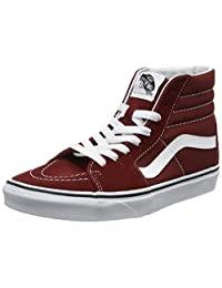 Vans Unisex Sk8-Hi Reissue Madder Brown/True White Skate Shoe 5.5 Men US / 7 Women US