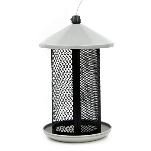 Perky-Pet TSS00349 Dual Mesh Wild Bird Seed Feeder, Gray