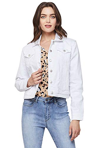 VELVET HEART 'Gloria' - Women's Classic Cropped Denim Jacket; Button-Down; Fitted Look. This Perfect-Fitting Jean Jacket Will Never go Out of Style.