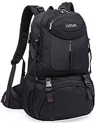 LUXUR 50L Hiking Backpack Water Proof Travel Gym Knapsack Casual Men Weekend Bag