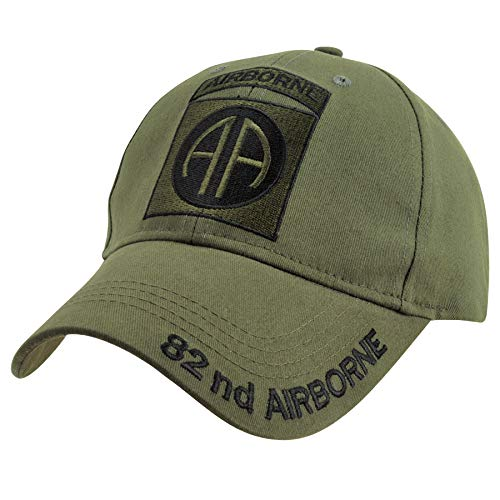Medals of America 82nd Airborne Ball Cap OD OD Green One - Military Cap Ball Airborne