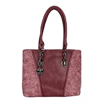 Butterflies Women Handbag Burgundy BNS 0664BGD