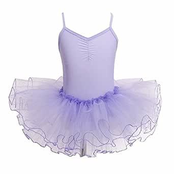 IEFIEL Vestido Tutú Niña Maillot de Danza Ballet Leotardo