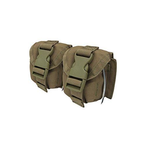 (CONDOR Double Frag Grenade Pouch Coyote MA14-498 MOLLE PALS)