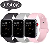 ATUP Sport Band Compatible with iWatch Band 38mm 42mm 40mm 44mm Women Men, Soft Silicone Sport Strap Compatible with iWatch Series 4/3/2/1