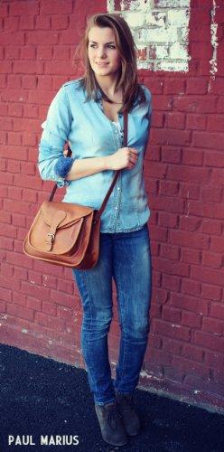 La Biscaccia, borsa pelle vintage, la borsa a mano, borsa a tracolla, PAUL MARIUS, Vintage & Retro