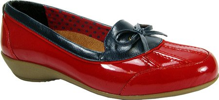 Beacon Women's Rainy Duck Shoes,Red Patent,10 W US