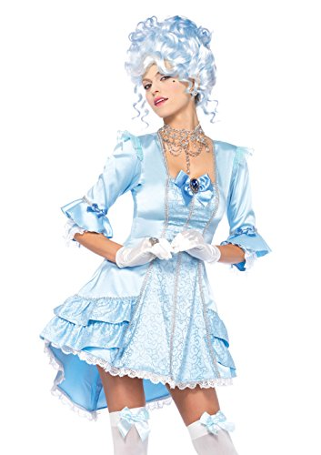 Leg Avenue Women's Versailles Beauty Marie Antoinette Rococo Costume, Blue, Medium ()