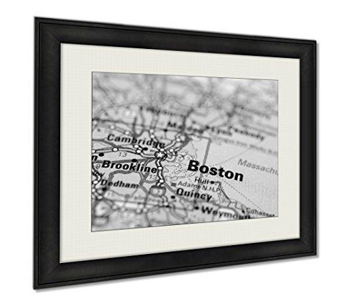 Ashley Framed Prints Boston, Wall Art Home Decoration, Black/White, 26x30 (frame size), AG5637223 by Ashley Framed Prints