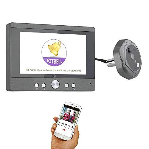Z-SGML 7 Inch Wired Video Doorbell Wireless Digital Peephole Door Viewer 5'' Front Door Peephole Camera WiFi Doorbell with Remote Camera Video Unlock Night Vision Rainproof by Z-SGML (Image #4)