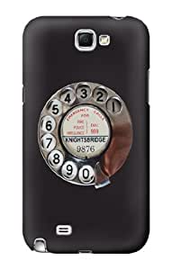 S0059 Retro Rotary Phone Dial On Case Cover for Samsung Galaxy Note 2