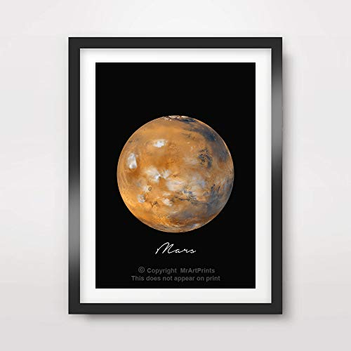 PLANET MARS ART PRINT Poster Home Decor Outer Space Photo Solar System Wall Picture A4 A3 A2 (10 Size Options) by MrArtPrints