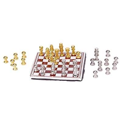1:12 Dollhouse Miniature Metal Chess Set