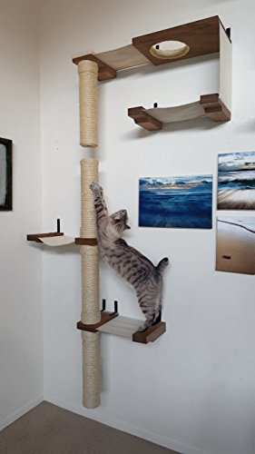 Catastrophicreations skyscraper cat hammock climbing activity center handcrafted wall - Wall mounted cat climber ...