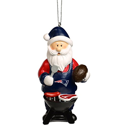 Forever Collectibles NFL Christmas Holiday Santa Grill Ornament-New England Patriots