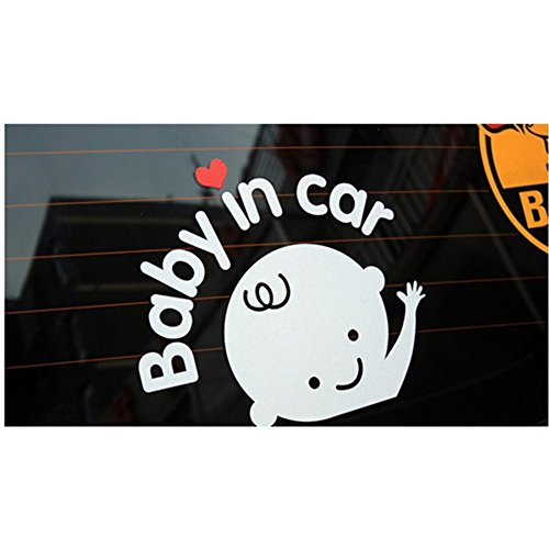 Baby On Board Reflective ConvenientBaby in Car Vehicle Safety Sign Sticker (Baby in Car)