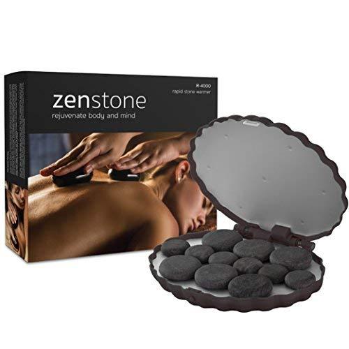 ZENSTONE Pro Waterless System + 12 Pro-Grade Hot Stones (Basalt Rocks)