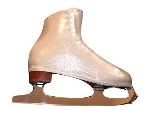 Ice Skate Boot Covers (Sparkly Silver)