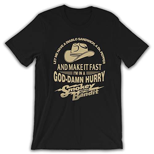 Diablo Sandwich & Dr.Pepper Make It Fast Im in Hurry T-Shirt Black (Diablo Sandwich And A Dr Pepper T Shirt)