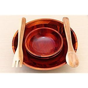 Set Wooden Salad Bowl - Acacia Wood (acacia wood)