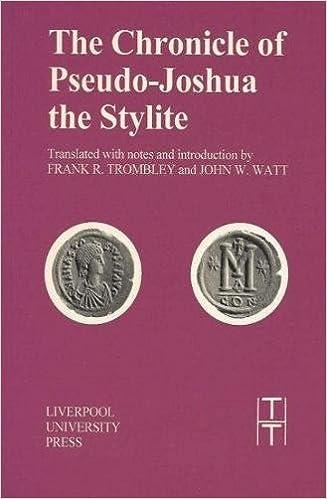 Chronicle Of Pseudo-joshua The Stylite PDF Descargar