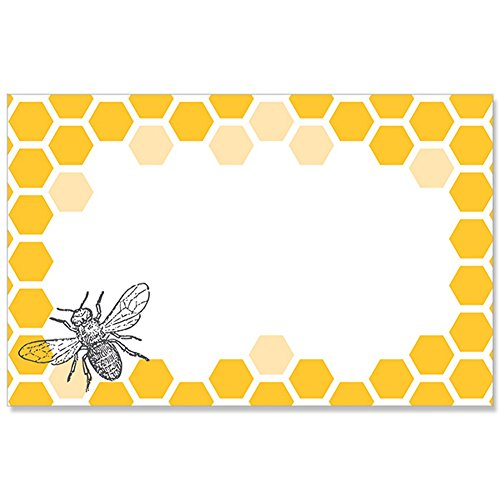 (Bumblebee and Honeycomb Enclosure Cards or GiftTags - 3-1/2 x 2-1/4)