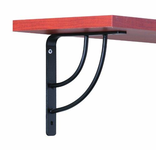 - John Sterling Milano Style Decorative Shelf Bracket, 6-inch, Black, RP-0087-6BK