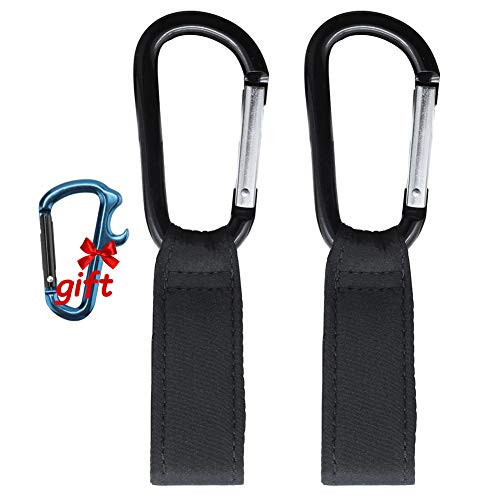 UPSTONE Baby Bag Clips Stroller Hooks Clips to Hang Your Shopping & Bags Safely on Your Buggy, Pushchair or Pram- Universal Fit on Strollers & Joggers