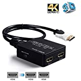 HDMI Splitter 1 in 2 out,avedio links 4K HDMI Splitter 1x2 With High