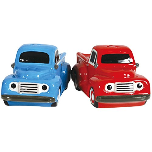 Westland Giftware Magnetic Ceramic Salt and Pepper Shaker Set, 2-Inch, Ford F-1 1940's
