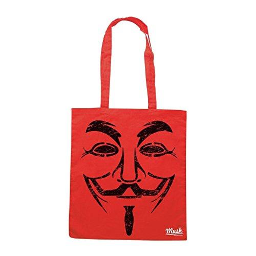 Borsa V For Vendetta Destroyed - Rossa - Film by Mush Dress Your Style